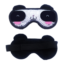 Cooling Sleep Eye Mask for Puffy Eyes Soft Cold with Gel Bead, Cute Face Migraines and Headaches