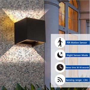 Image 3 - Outdoor Wall Lamp Motion Sensor Aluminum COB IP65 Waterproof Modern Wall Light Living Room Porch Led Floodlight Surface Mounted