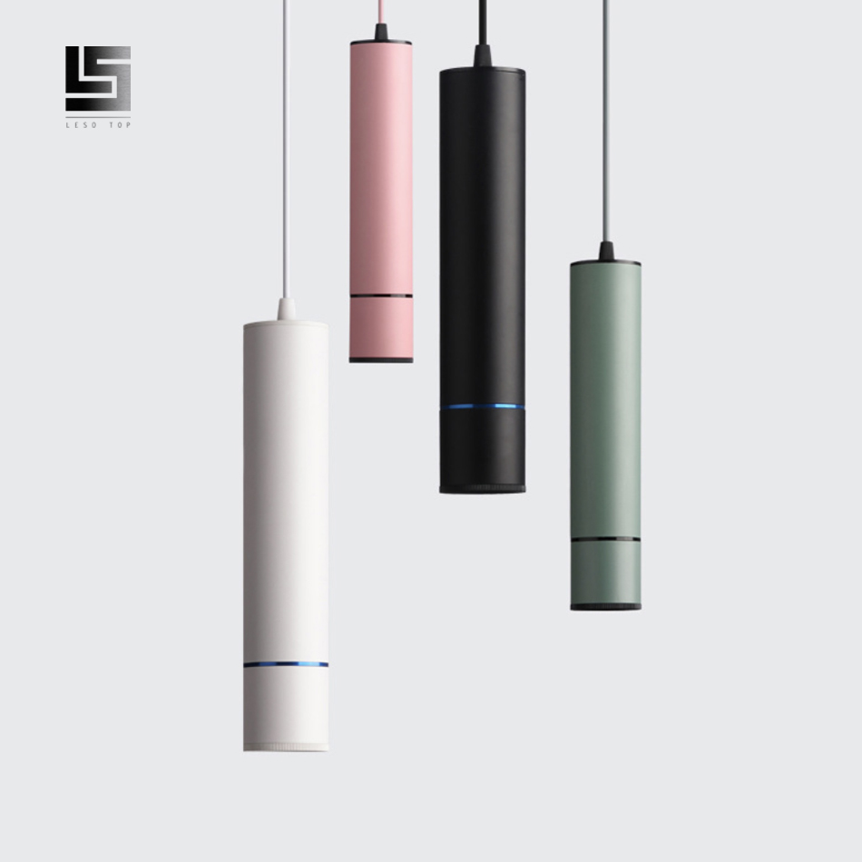 Led moderno pingente de luz tubo macaron pingente lâmpada counte stroe sala cozinha luminárias hanglamp luminária