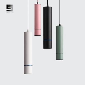 LED Modern Pendant LIght tube Macaron Pendant Lamp Counte stroe Room Kitchen light fixtures hanglamp luminaire(China)