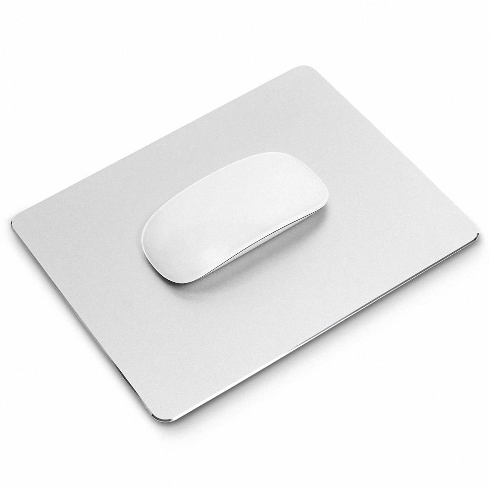 Hard Metal Aluminum Mouse Pad Smooth Double Side Design Mouse Mat Waterproof Fast and Accurate Control for Gaming and Office