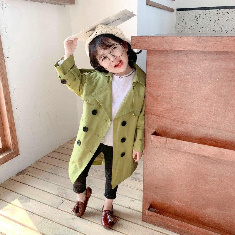 Mihkalev teenage girl   trench   coat for kids Long-Length wind coat 2019 children autumn winter overcoat girls outerwear