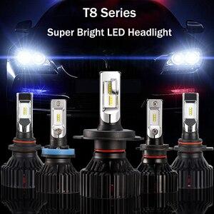 Par Lampada Farol Xenon CANbus T8 LED 6500 K H4 H7 H1 Lampadas LED Farol H11 9005 9006 60W 8000LM Carro Lampada LED Super Brilho
