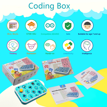 keyestudio kidsbits Maker coding box V1.0  starter kit for Arduino STEM Education 7+ недорого