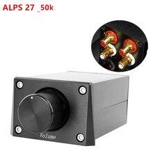 Пассивный предусилитель Потенциометр регулировки громкости для усилителя мощности, аудиоконтроллер ALPS27/16 RCA вход/выход FV3