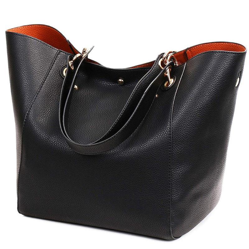 Women Handbags Simple PU Leather Women Shoulder Bag Large Capacity Totes Classic Elegant Travel Ladies Shopping Handbag
