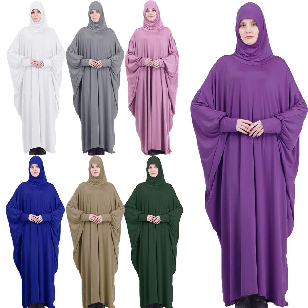 Мусульманское Платье макси с капюшоном для женщин, длинное платье с капюшоном, мусульманский молитвенный халат, кафтан, цзилбаб, арабский Р...