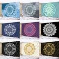 Квадратный гобелен Mandala из полиэстера 180*230 см, Настенный Коврик, декоративный коврик для йоги для дома, спальни