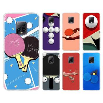 Table Tennis Art Pingpong Tpu Case for Xiaomi Redmi Note 8T 8 9S 9 9A 9C 7 10X K30 Pro K30i 5G 6 Fundas Capa Phone Coque image