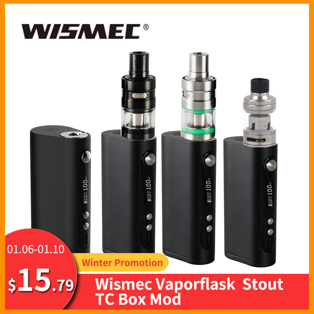 [RU/ES] Original Wismec Vape Forward Vaporflask Stout TC Box Mod Output 100w TC/VW/Bypass Vs Wismec R80/Sinous P80 E-Cig