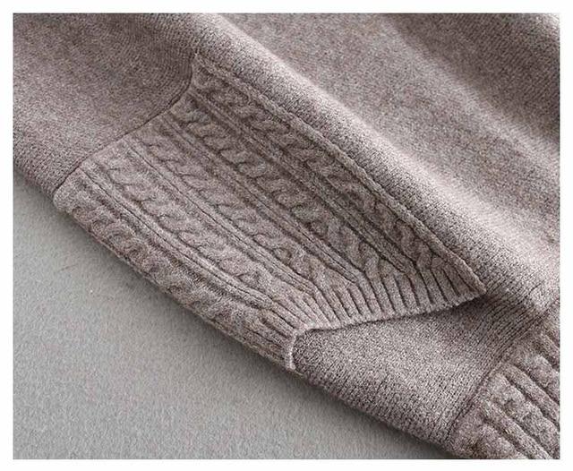 Sherhure 2019 High Waist Women Winter Wool Knitting Long Skirts Faldas Jupe Femme Saia Vintage Women Black Skirt With Pocket 5