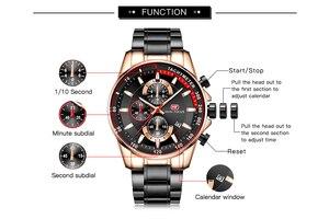 Image 5 - Quarz Armbanduhr Männer Top Marke Luxus Pilot Uhr Military Chronograph Kalender Datum Wasserdicht Multi Funktion MINI FOKUS