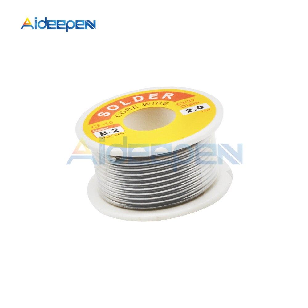 Rouleau de fil à souder sans nettoyage, 2.0%, 45 pieds, 100g, haute pureté, 2mm