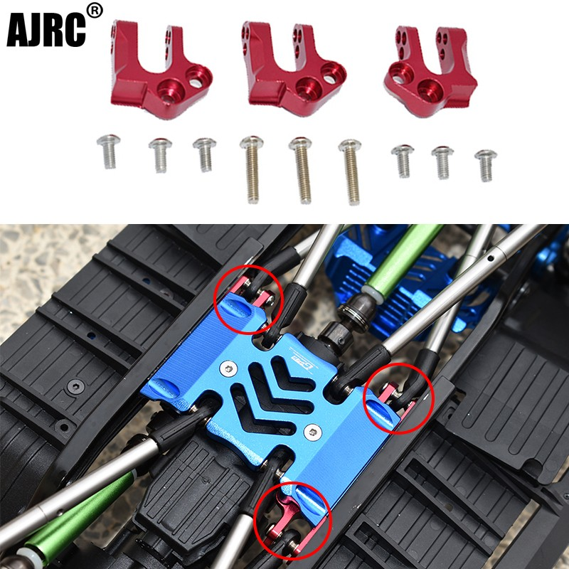 Axial AXI03007 SCX10 III Jeep Wrangler Gladiator AXI0306 T1/T2 aluminum alloy mid-wave box chassis fixing bracket AXI231009