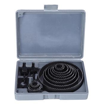 цена на 19-127mm Hole Saw Drill Bit Set DIY Wood Metal Plastic Cutter Mandrels Saws Core Cutting Kit Woodworking Tools