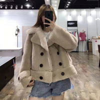 wool blends winter coat women sheep fur parka real price silm clothing short faux leather jacket turn down collar wool fur coats