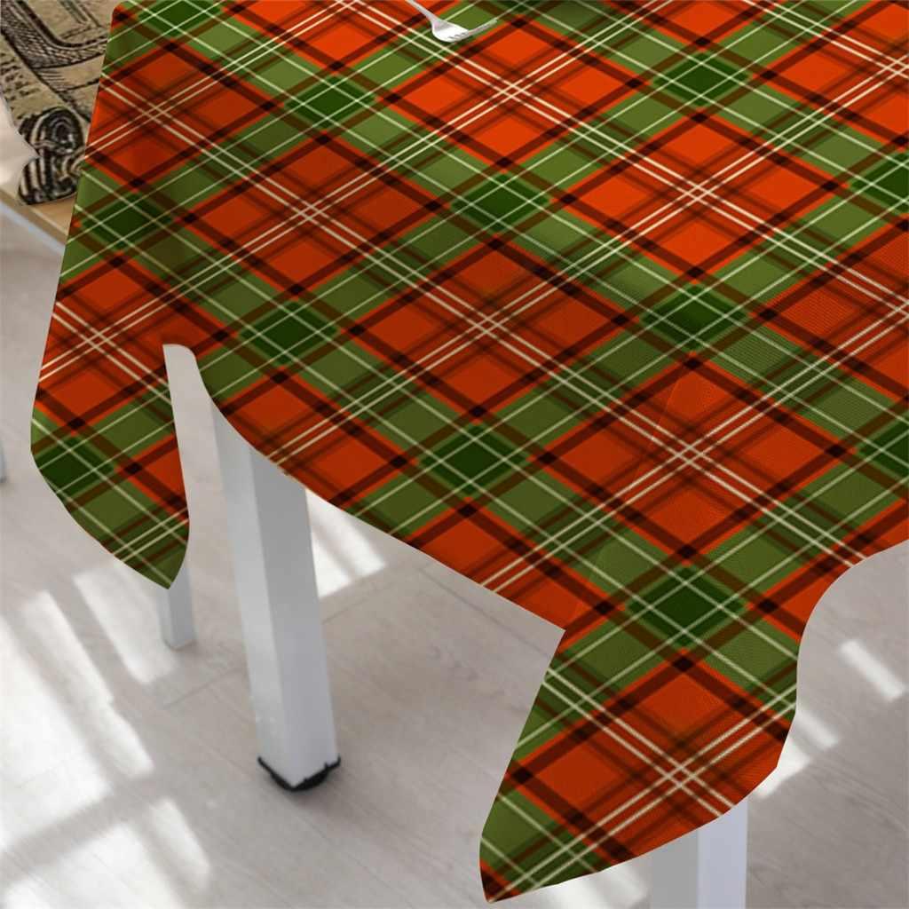 Nappe de noël dessin animé flocon de neige Table tissu Table couverture décoration de la maison rectangulaire thé Table couverture à manger décor à la maison