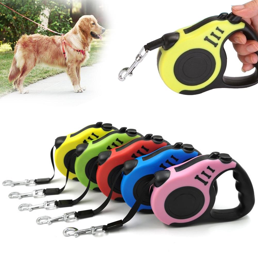 Guinzaglio durevole 3m 5m guinzaglio retrattile automatico in Nylon con prolunga per gatti cucciolo da passeggio da corsa per cani 1