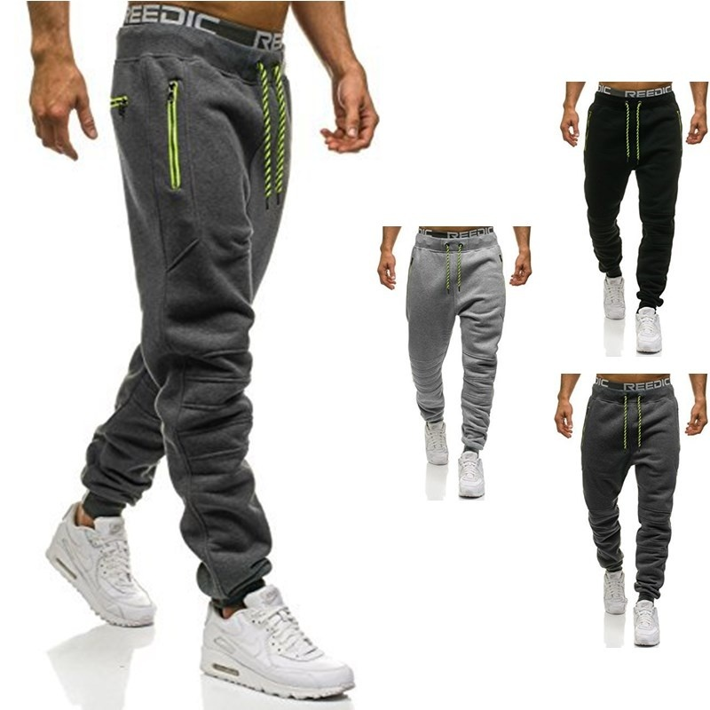 ZOGAA Leisure Men Jogger Pants Sports Trousers 3 Colors Hip Hop Sweatpants Men Cotton Tie Letter Print Pants Plus Size S-3XL