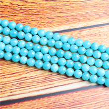 Blue Sky River Stone Natural Stone Bead Round Loose Spaced Beads 15 Inch Strand 4/6/8 / 10mm For Jewelry Making DIY Bracelet