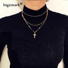 Многослойное металлическое ожерелье в стиле бохо бусины длинная