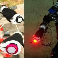 1 paar Batterie Fahrrad Lenker Licht Fahrrad Signal Lampe Radfahren LED Bar End Plugs Anzeige Sicherheit Lichter