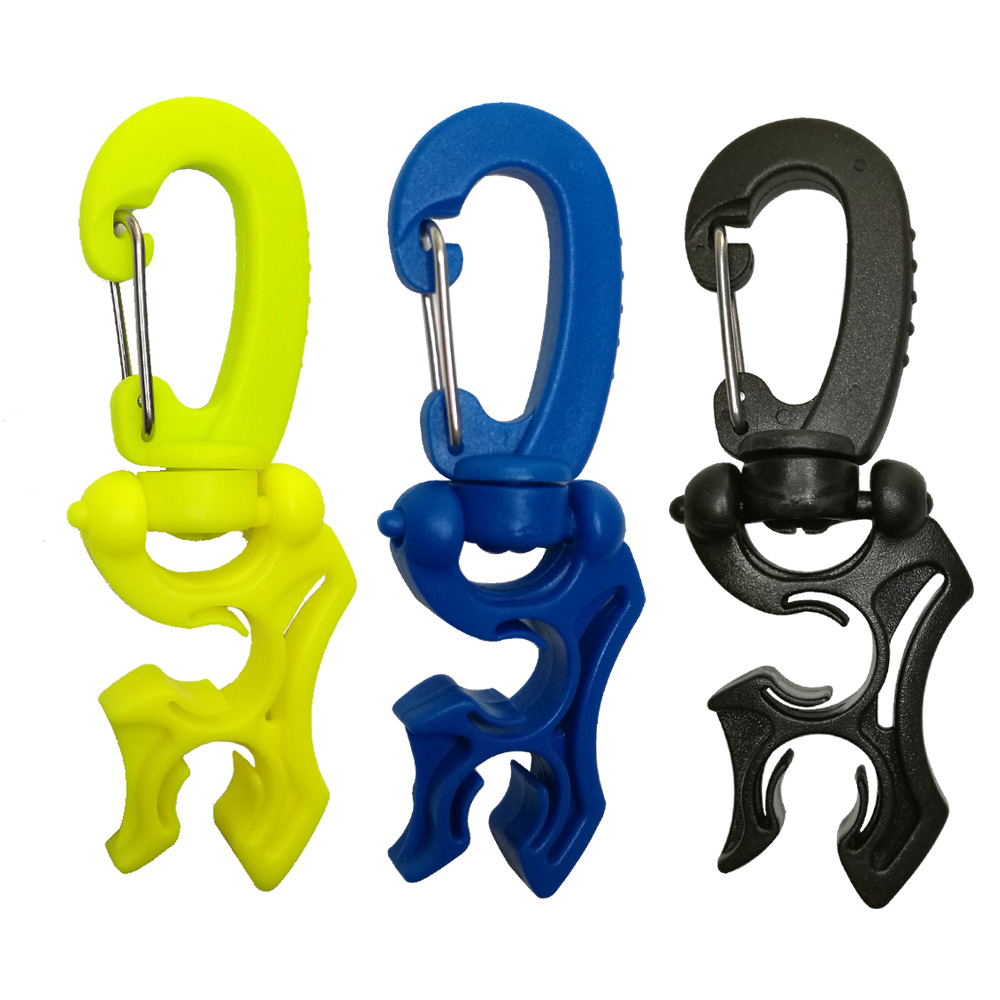 Regulator Double BCD Hose Holder with Clip Buckle Hook for Scuba Diving Snorkeling(China)