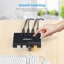 AIMOS AM-404K USB Printer Share Switcher 4 Porte Tastiera Del Mouse U Disk HDD USB Controller USB 4-Port Switcher per il mouse tastiera