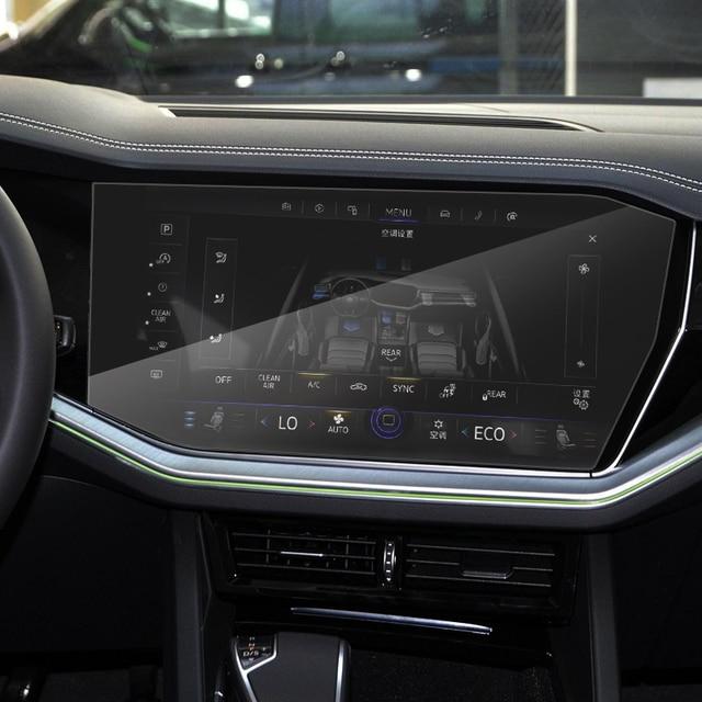 Car Styling For Volkswagen Touareg CR 2019-Present GPS Navigation Screen Film Dashboard Display Screen Film Interior Sticker 4