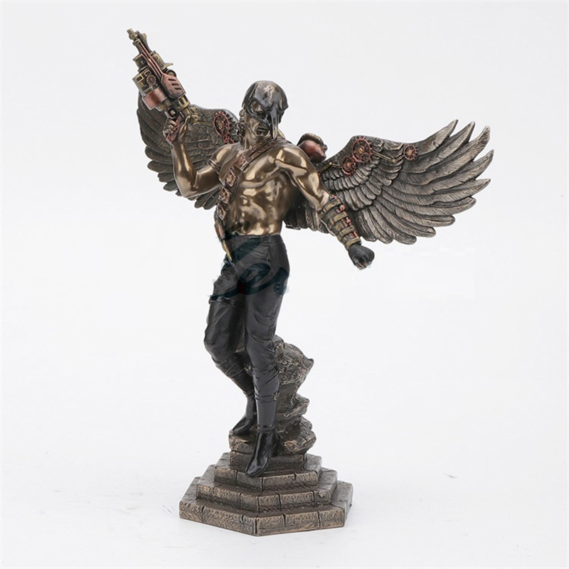 European Style Creative Crow Mask Man Statue Angel Art Sculpture Resin Crafts Decorations For Home Birthday Gift R3221