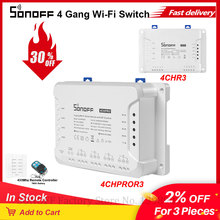 Itead Sonoff 4CH R3/Pro R3 Wifi Schakelaar 4 Gang 4 Manier Montage Wifi Draadloze Smart Switch App Remote interrupter Relais Schakelaars