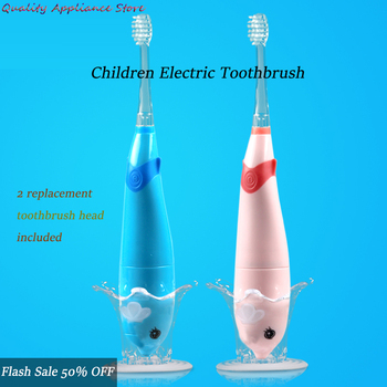 electric sonic toothbrush heads Children Sonic Electric Toothbrush for 3-12 Age Battery LED Sonic Kids Toothbrush Smart Timer Replacement Toothbrushes Heads NEW