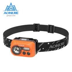Aonijie E4031 Tahan Air Sensitif LED Headlight Headlamp Senter Sensor Cahaya untuk Menjalankan Memancing Camping Hiking Bersepeda