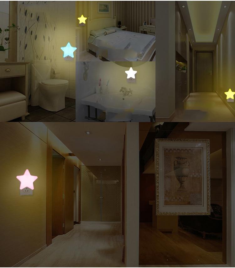 plug ac 110-220v casa decoração luz sensor