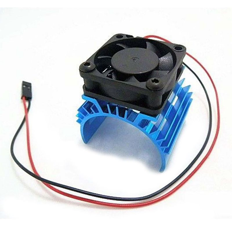 meta Heat sink with <font><b>5V</b></font> Cooling <font><b>Fan</b></font> for 1/10 RC Car 540 550 3650 Size <font><b>Motor</b></font> image
