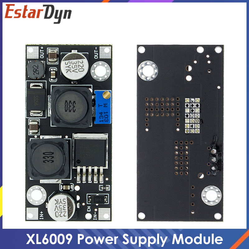Xl6019 (xl6009 atualizar) passo-up automático step-down dc conversor ajustável módulo de fonte de alimentação 20w 5-32v a 1.3-35v