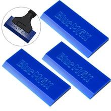 EHDIS 3pcs BlueMax 스페어 고무 블레이드 스크레이퍼 핸들 탄소 비닐 필름 포장 스퀴지 창 색조 유리 물 눈 삽