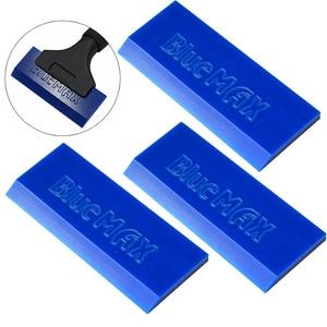 Image 1 - Ehdis 3Pcs Bluemax Spare Rubber Blade Voor Schraper Handvat Carbon Vinyl Film Wrapping Zuigmond Window Tint Glas Water Sneeuw schop