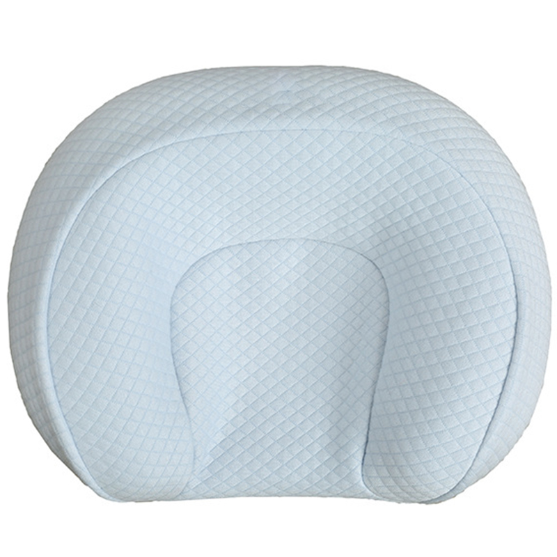 Baby Shaped Pillow Multi-Function Bed Positioning Pillow Baby Sleeping Pillow Anti-Heading Pillow For 0-12 Months-Blue