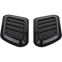 2 X Abs Auto Universal Decoratieve Intake Scoop Turbo Bonnet Vent Cover Hood Auto(China)