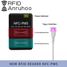 Nuovo NFC-PM5 crittografia decodifica duplicatore RFID controllo accessi lettore di schede S50 UID Smart Chip Card Writer ICID copiatrice di frequenza