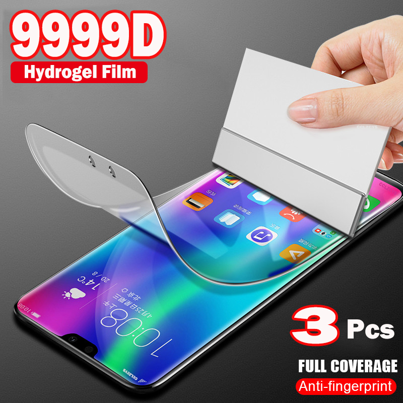Гидрогелевая пленка 3 шт., Защита экрана для Huawei P30 Pro P20 P10 P50 P Smart Z 2019 Mate 20 Honor 10 Lite 9 9X 8X, защитная пленка