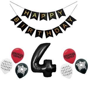 Image 5 - 12 stücke Fremden Dinge Luftballons Latex ballon Geburtstag Party Dekorationen Spielzeug Partei Liefert Globos