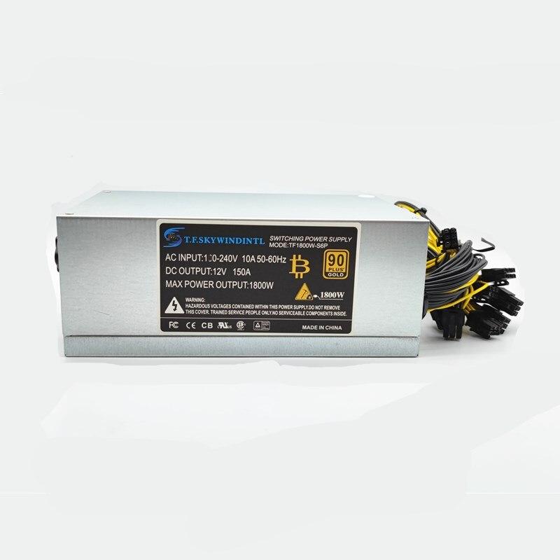 Бесплатная доставка, блок питания 1800 Вт для майнинга Ant S7 A6 A7 S7 S9 L3 BTC, Серверная майнинговая плата, блок питания