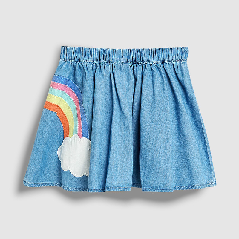 SAILEROAD Baby Girl Clothes Unicorn Rainbow Appliques Cotton Mini Skirts for Kids Autumn  Children's Tutu Skirt 2