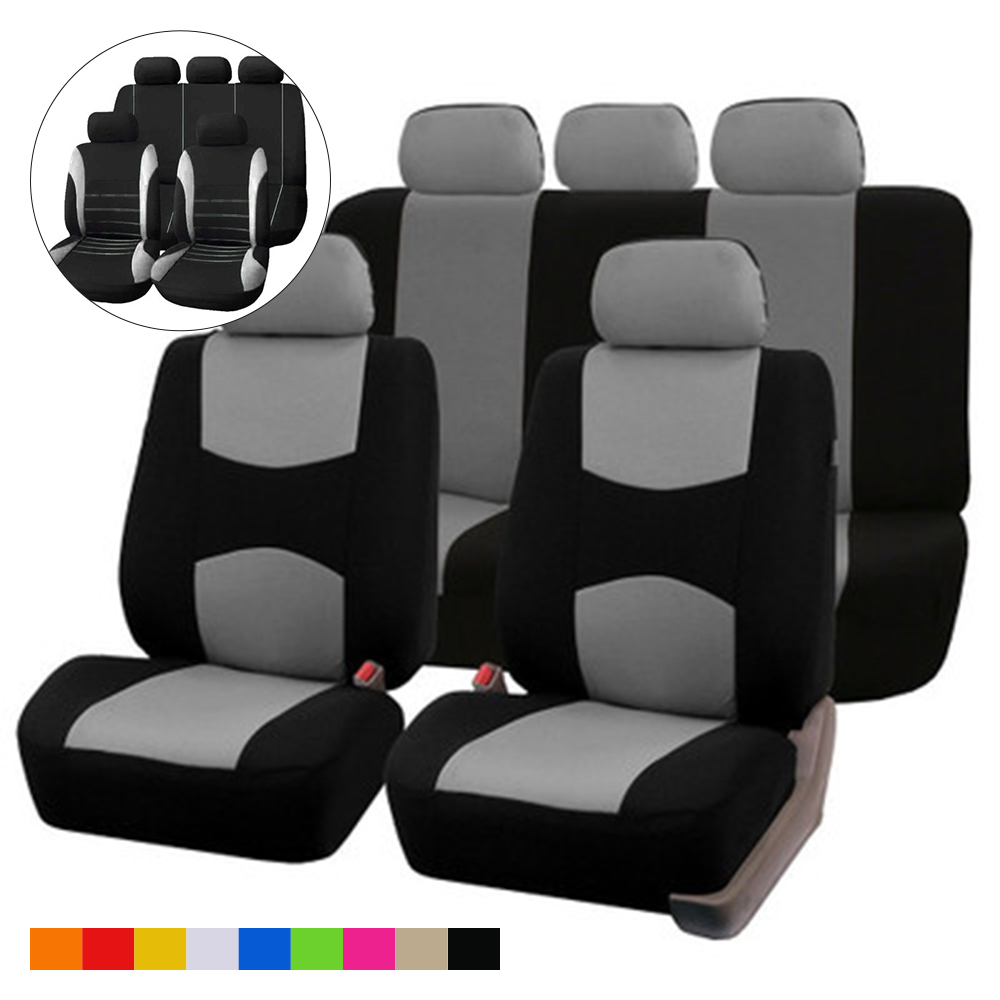 Black Leather Look Car Seat Covers Cover Set For Dacia Logan MCV Stepway 2013 On