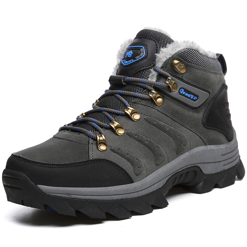 Winter Snow Boots Brand Men Warm Super Men High Quality Waterproof Leather Sneakers Outdoor Male Hiking Boots Work Shoes