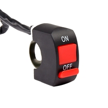 Universal Motorcycle Handlebar Flameout Switch ON OFF Button for Moto Motor ATV Bike DC12V/10A Black