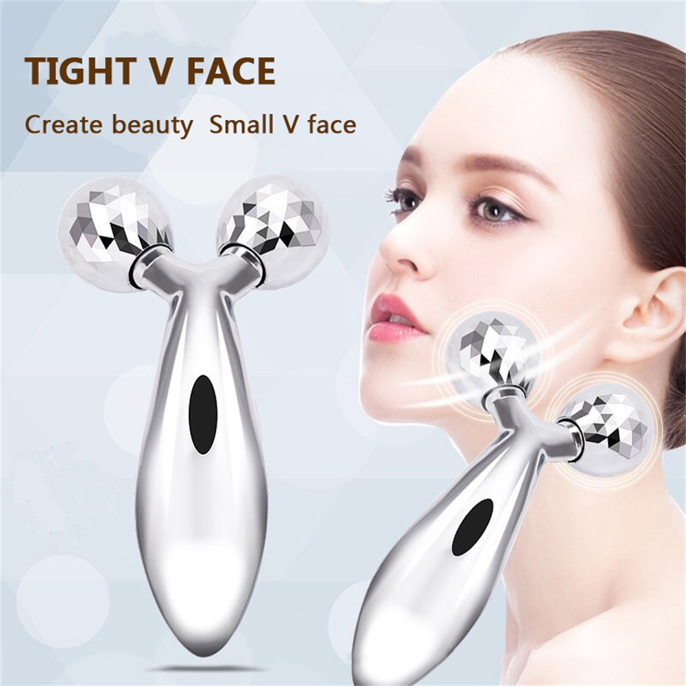 3D Roller Massage V Face Lift Facial Massager Instrument Tighten V Shape Skin Care Wrinkle Remover Thin Relaxation Beauty Tool