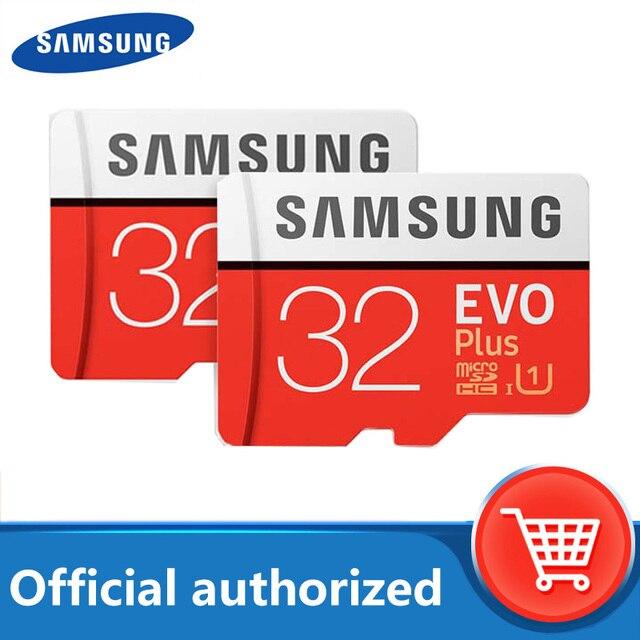 SAMSUNG EVO Plus MicroSD Speicher Karte 32GB 64GB 128GB 256GB Class10 microSDXC U3 UHS I TF Karte 4K HD für Smartphone Tablet etc
